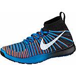 Nike Free Train Force Flyknit Fitnessschuhe Herren schwarz/blau