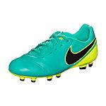 Nike Tiempo Legend Fußballschuhe Kinder türkis / neongelb
