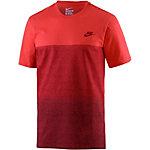 Nike Colorblock T-Shirt Herren rot