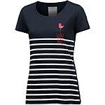 ARMEDANGELS T-Shirt Damen dunkelblau/weiß