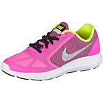Nike Revolution3 Laufschuhe Mädchen korall/gelb