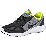 Nike Revolution3 Laufschuhe Jungen schwarz/grau/neongrün