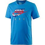 Nike USA Laufshirt Herren blau