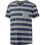 TOM TAILOR T-Shirt Herren dunkelblau/grau