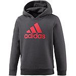 adidas Sweatshirt Jungen dunkelgrau/rot