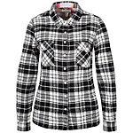 CONVERSE Plaid Flannel Button Sweatshirt Damen schwarz / weiß