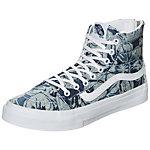 Vans Sk8-Hi Slim Zip Indigo Tropical Sneaker Damen blau / weiß