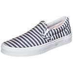 Vans Classic Slip-On Stripes Sneaker Damen blau / weiß