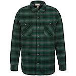 CONVERSE Static Flannel Langarmhemd Herren grün / grau