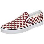 Vans Classic Slip-On Checkerboard Sneaker Herren rot / weiß