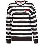 CONVERSE Drop Shoulder Crew Sweatshirt Damen weiß / schwarz