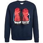 CONVERSE Graphic Fleece Crew Sweatshirt Herren dunkelblau