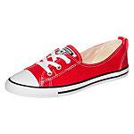 CONVERSE Chuck Taylor All Star Ballet Lace Slip Sneaker Damen rot / weiß
