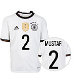 adidas DFB Trikot Mustafi EM 2016 Heim Fußballtrikot Kinder weiß / schwarz