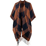 TOM TAILOR Poncho Damen orange/dunkelblau
