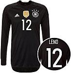 adidas DFB Trikot Leno EM 2016 Heim Torwarttrikot Herren schwarz / weiß