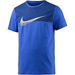 Nike AV15 Metallic Swoosh Printshirt Herren blau