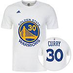 adidas Golden State Warriors Gametime Fanshirt Herren weiß