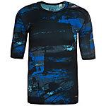 adidas TechFit Base Funktionsshirt Herren schwarz / blau