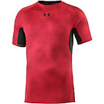 Under Armour HeatGear Kompressionsshirt Herren rot/schwarz