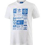 adidas T-Shirt Herren weiß/blau