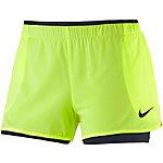 Nike Shorts Damen neongelb/schwarz