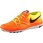 Nike Free TR Focus Flyknit Fitnessschuhe Damen orange/gelb