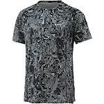 Nike Dri-Fit Miler Laufshirt Herren schwarz/grau