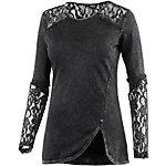 Khujo Langarmshirt Damen schwarz washed