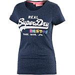 Superdry Printshirt Damen dunkelblau