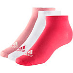 adidas Sneakersocken Kinder rot/weiß/rosa