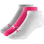 PUMA Sneakersocken pink/weiß/grau