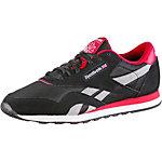 Reebok Classic Nylon Sneaker Damen schwarz/rot