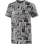 adidas T-Shirt Herren grau/schwarz