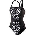 SPEEDO Auraglow 1 Piece Schwimmanzug Damen schwarz/grau/weiß
