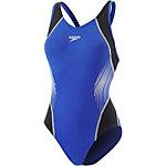 SPEEDO Fit Splice Muscleback Schwimmanzug Damen blau/schwarz