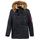 Alpha Industries Polar Jacket Parka Herren schwarz
