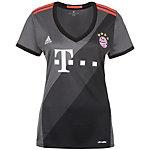 adidas FC Bayern München 16/17 Auswärts Fußballtrikot Damen grau / schwarz / rot