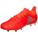 adidas X 16.2 Leather Fußballschuhe Herren neonrot / silber