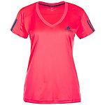 adidas Club Tennisshirt Damen neonrot / dunkelblau
