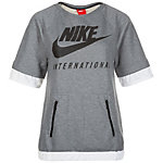 Nike International Sweatshirt Damen grau / weiß