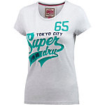 Superdry T-Shirt Damen hellgrau
