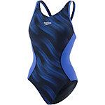 SPEEDO Fit Splice Allover Muscleback Schwimmanzug Damen schwarz/blau