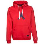 Nike Paris Saint-Germain Kapuzenpullover Herren rot / weiß