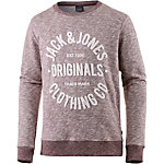 Jack & Jones Sweatshirt Herren weinrot melange