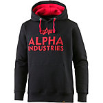 Alpha Industries Sweatshirt Herren schwarz/rot
