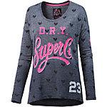 Superdry Langarmshirt Damen navy/pink