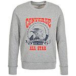 CONVERSE Heritage Graphic Crew Sweatshirt Herren grau / rot / blau