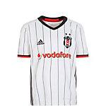 adidas Besiktas Istanbul 16/17 Heim Fußballtrikot Kinder weiß / schwarz