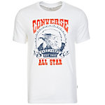 CONVERSE Eagle Music Heritage T-Shirt Herren weiß / rot / blau